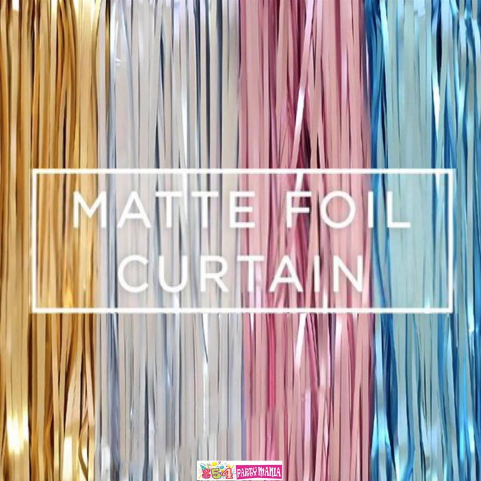 Foil Curtain Matte Fringe Party Decor 3meters X 1meter Party Streamer By 854 Party Needs.