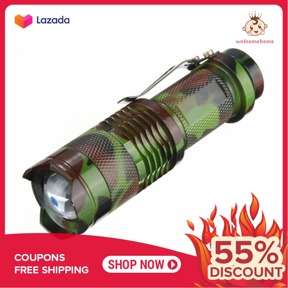 Tactical 7W 1200lm CREE Q5 LED SA3 Zoomable Mini Taschenlampe Lampe P⑤