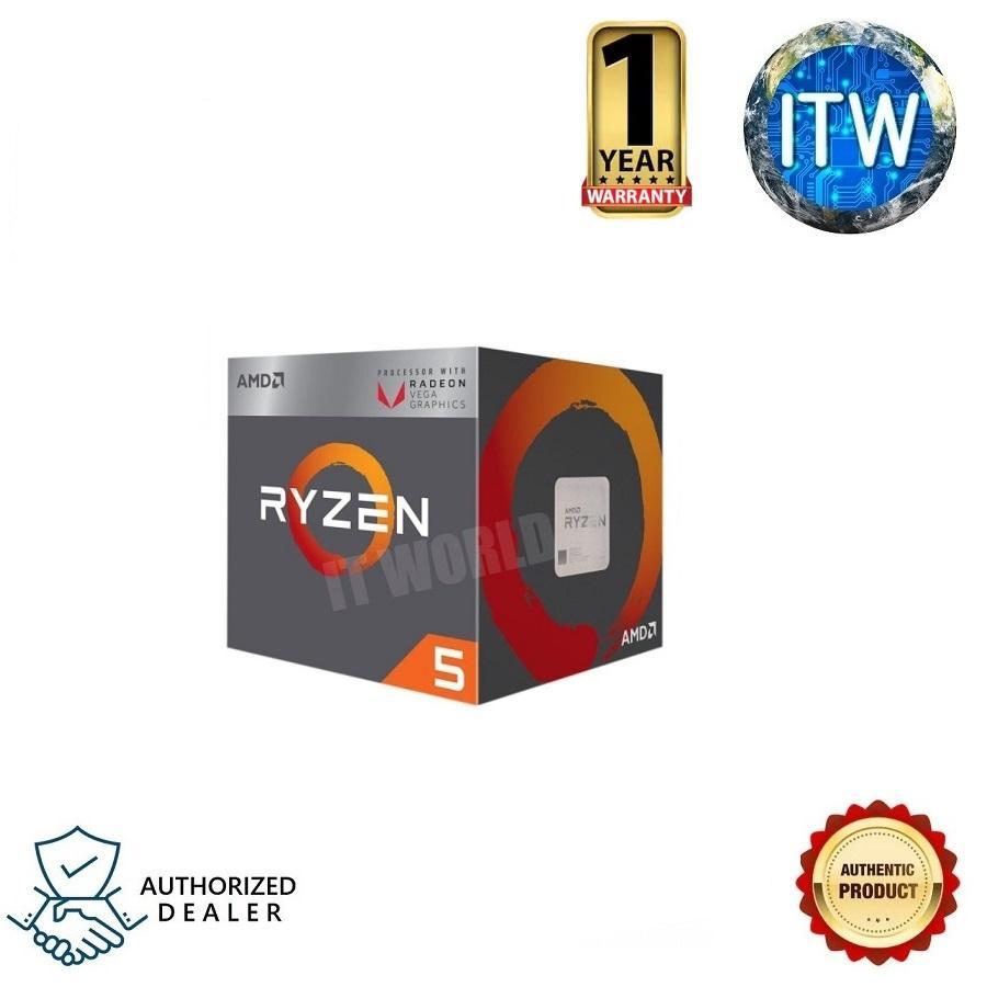 BUNDLE DEAL: AMD Ryzen 5 2400G Radeon VEGA Graphics AM4 CPU w/ Wraith  Stealth Cooler Processor and GIGABYTE B450M DS3H Motherboard