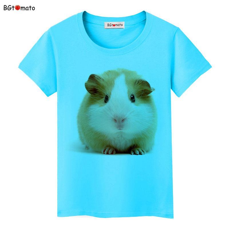 ce208bb47b22 BGtomato New style super cute Hairball mouse t shirt Women lovely 3D T shirt  Brand Good