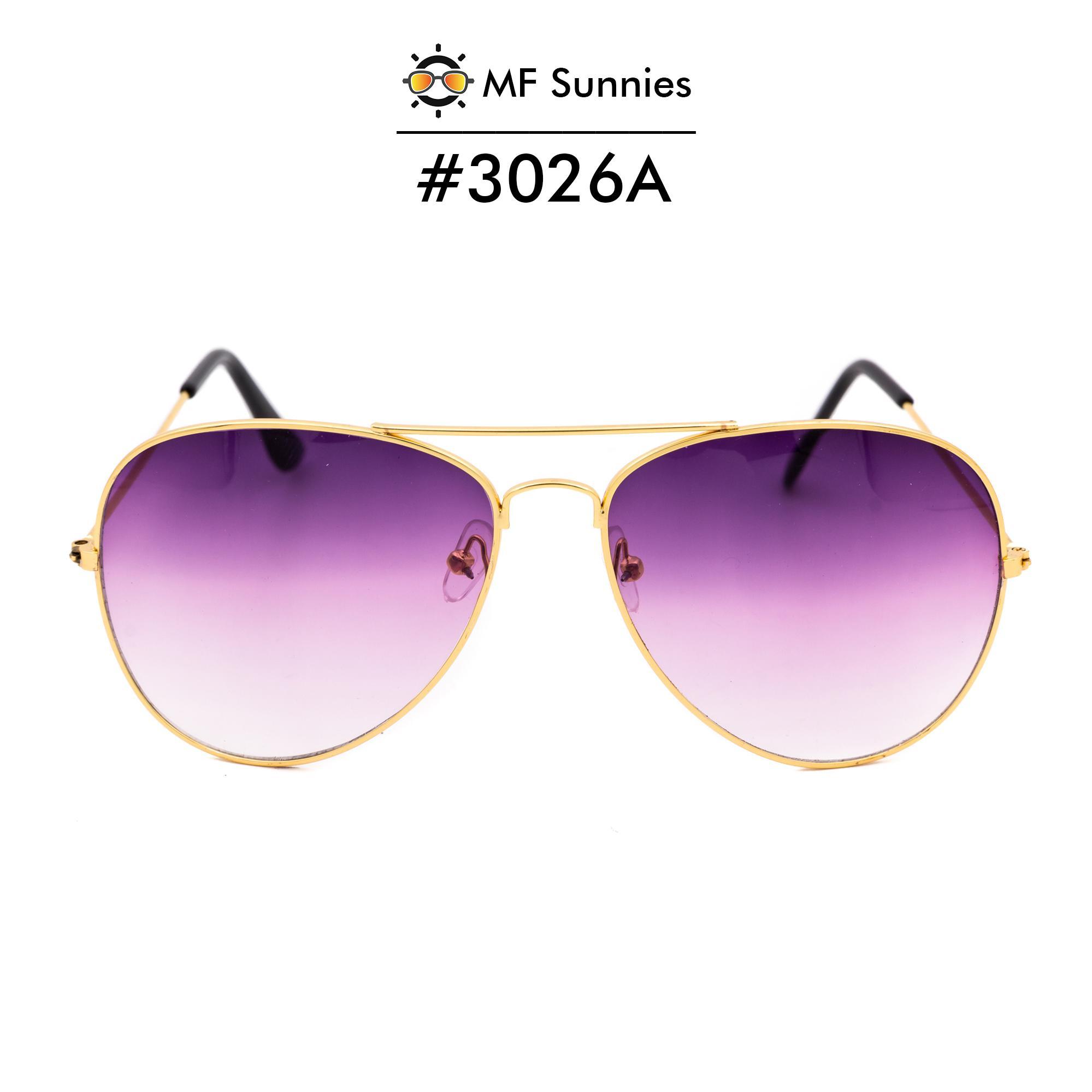 b3bd171a4b MFSunnies Sunnies Classic Aviator Gradient lens Metal Frame Fashion eyewear  Gradient Purple  3026A