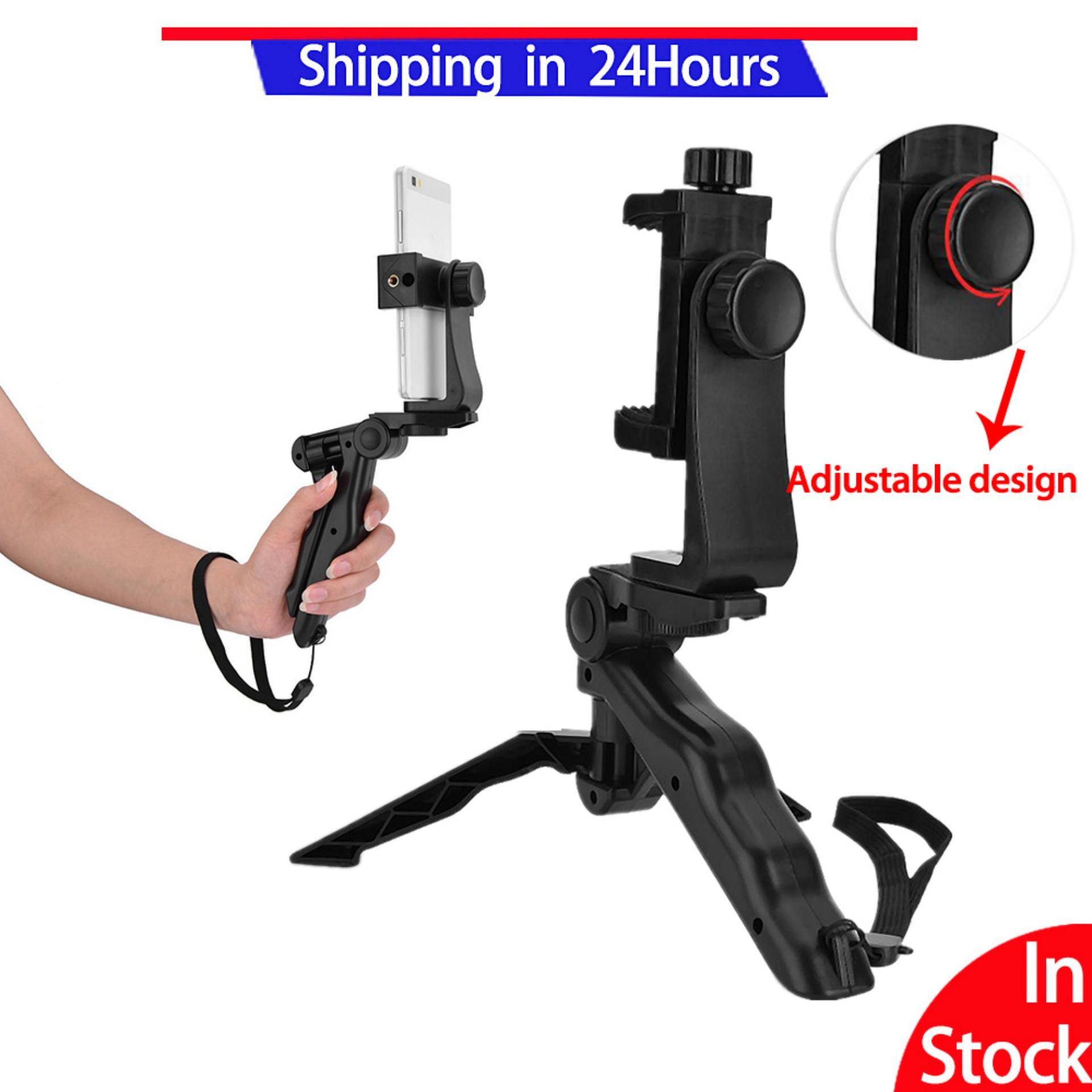 【flexibility】fashionf Phone Holder Tripod Handheld Stabilizer Hand Grip Mount For Smartphone,is A Bracket Which Can Compatible With All Brands And Devices,remove Your Device Easily And Quickly With A Push-Button Release. By Fashionf Mall.