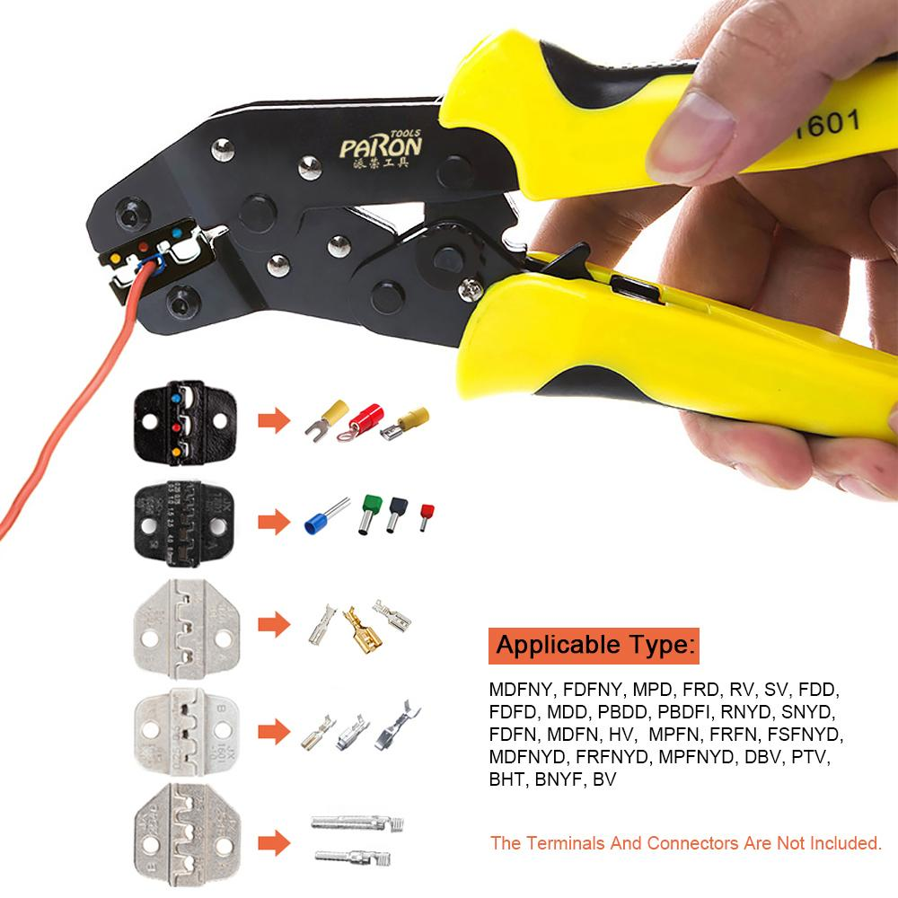 Insulated Wire Terminals Connectors Ratcheting Crimper Tool/&Cable Crimper Pliers