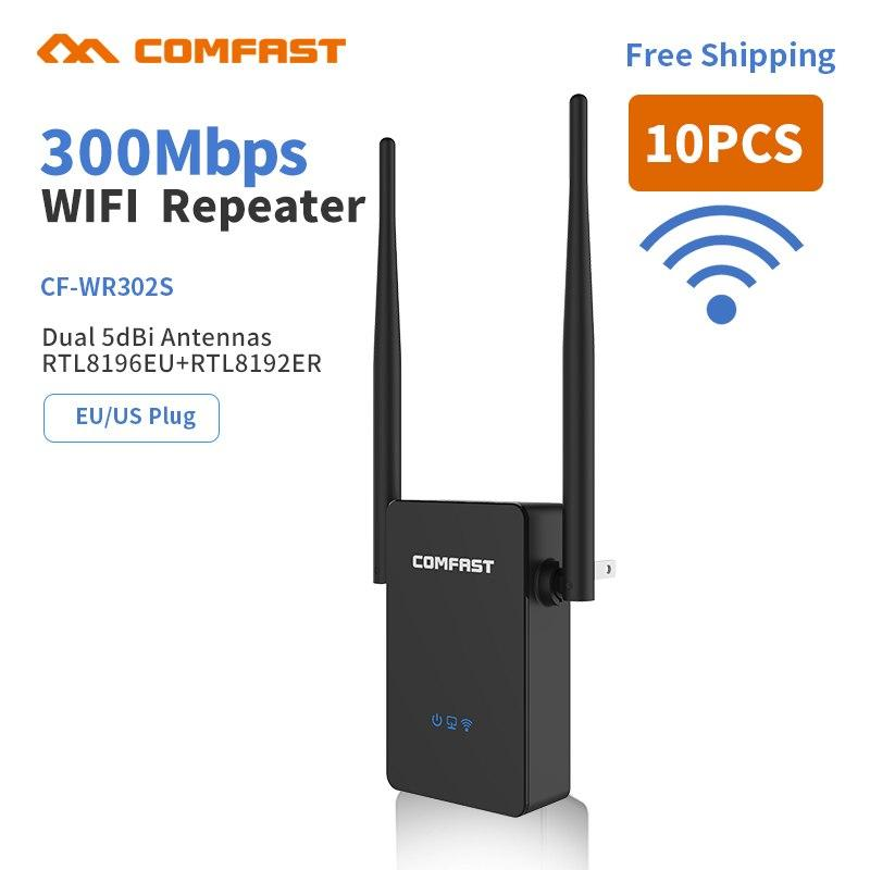 10pcs Wireless WiFi Repeater Extender 300Mbps Wi-Fi Amplifier Booster  Repetidor 10dbi Antenna Wi fi Reapeter Access Point XT Store