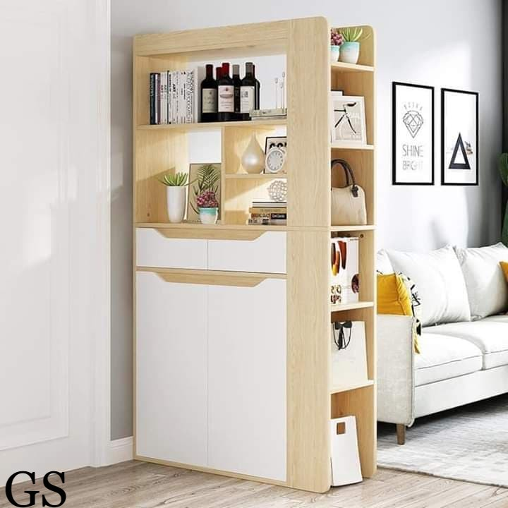 Glory Shop Bookshelf With Door Simple Free Combination Living Room Simple Modern Solid Wood Storage Cabinet Lazada Ph