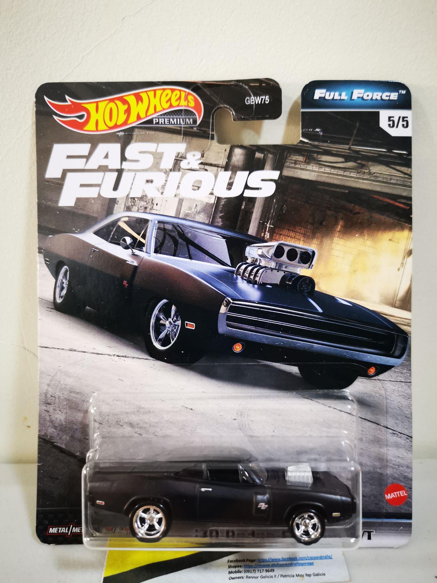 5 Car Set Full Force 2020 Hot Wheels Fast Furious Case H
