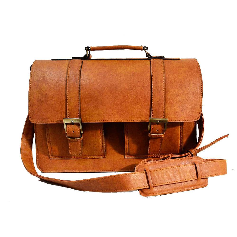 Tan Teo HoneyBadger Messenger Briefcase Bags