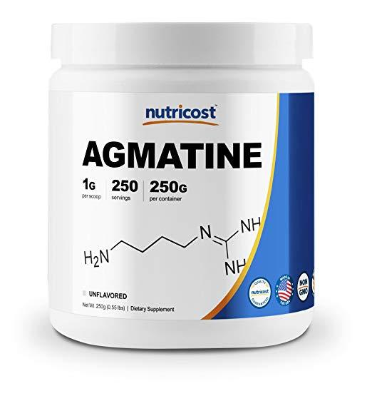 Nutricost Pure Agmatine Sulfate Powder 250 Grams 250 servings