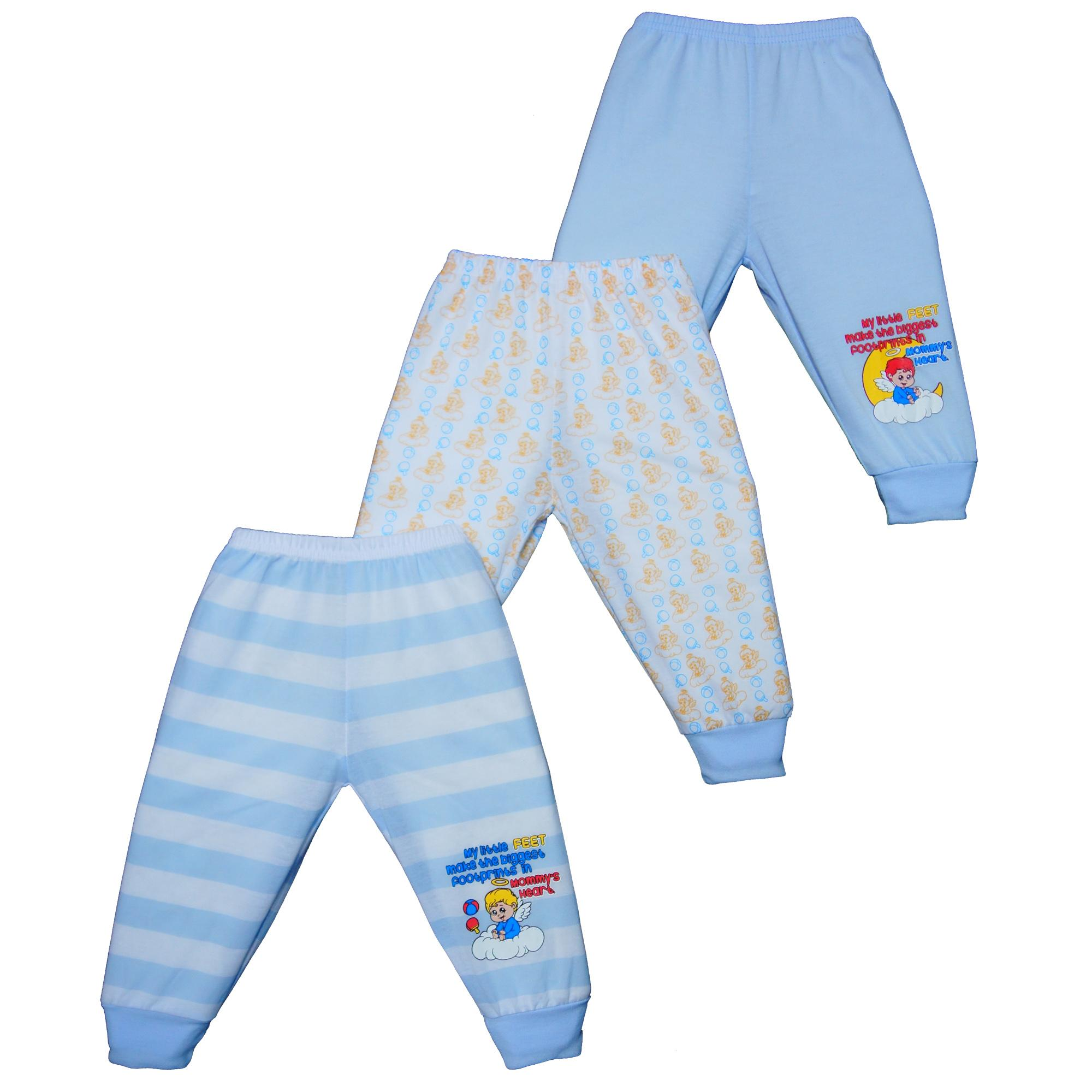 e68e86fcf Froshie 3-piece Baby Cotton Pajama Pants with Leg Band (My little feet make