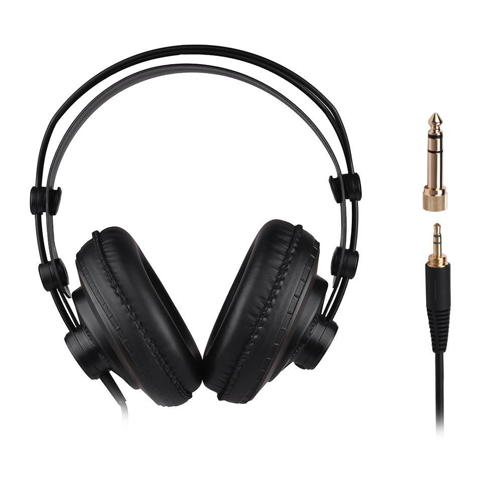 SAMSON SR850 Professional Studio Reference Monitor Headphones Dynamic Headset Semi-open Design for Recording Monitoring Music Appreciation Game Playing DJ