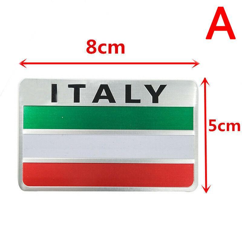 Aluminum Italy Italian Flag Shield Sticker Emblem Badge Decal Car Auto Decorate