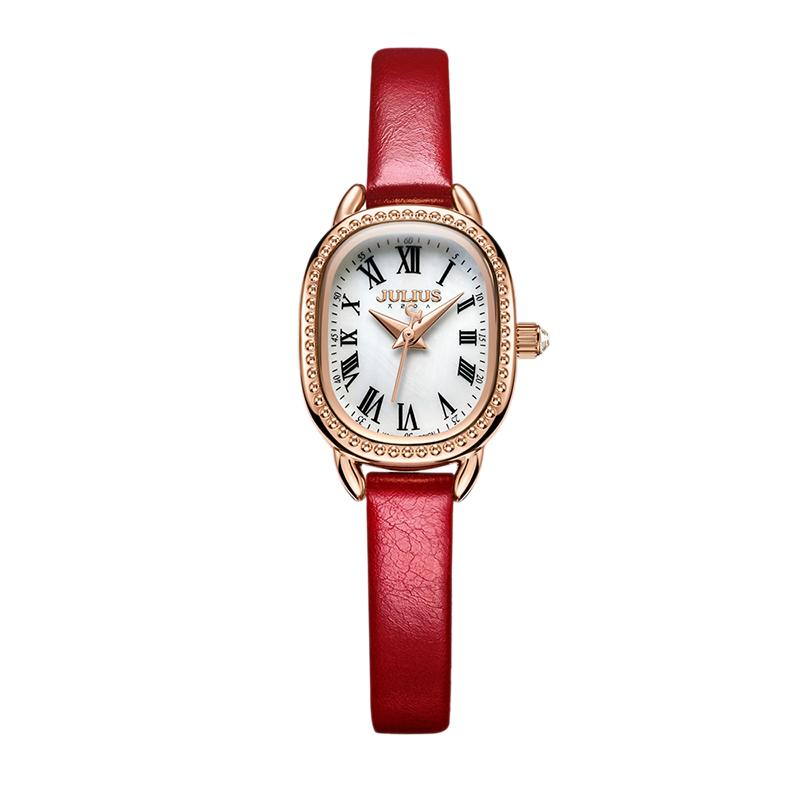 82d04a758 Julius Korean Style Vintage Goose Soft watch watches women Fashion  Waterproof Quartz Students Ladies  watch