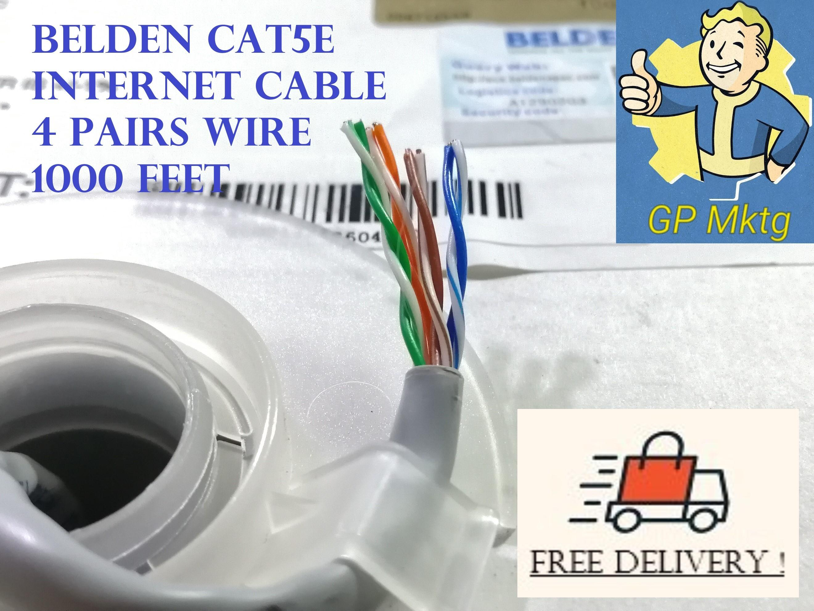 Free Delivery Belden cat5e internet/LAN cable 8 wires ( 1000feet ) Original