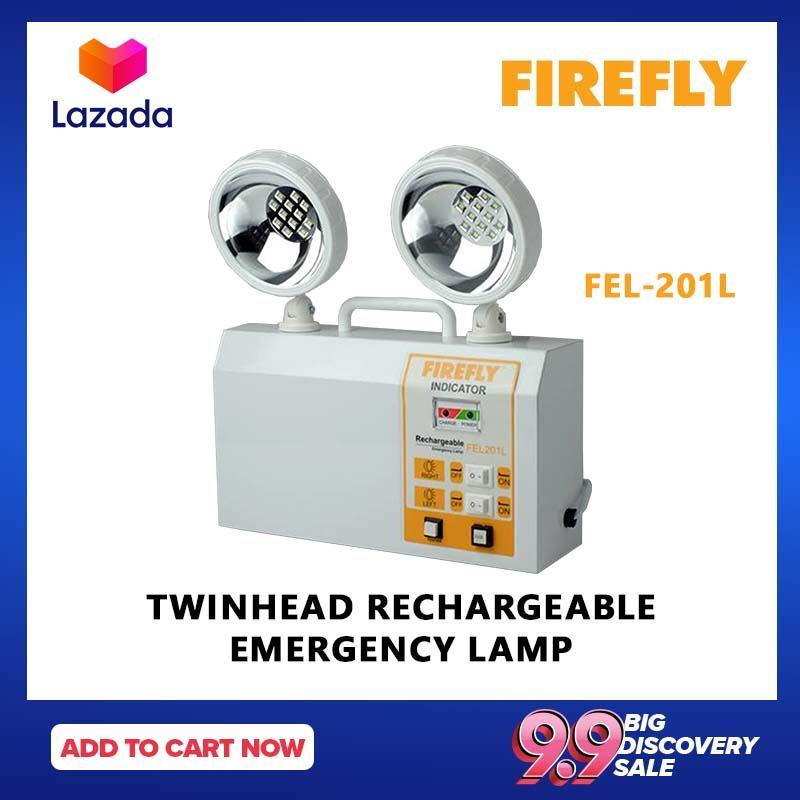FIREFLY FEL201L Twinhead Rechargeable Emergency Lamp