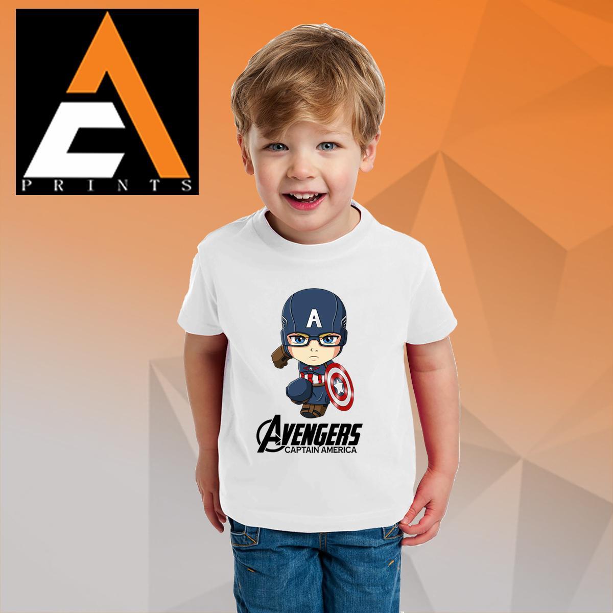 4042f4bb07461 Kids Shirt (UNISEX) Captain Americ  Avengers shirt 1-15 years old tshirt