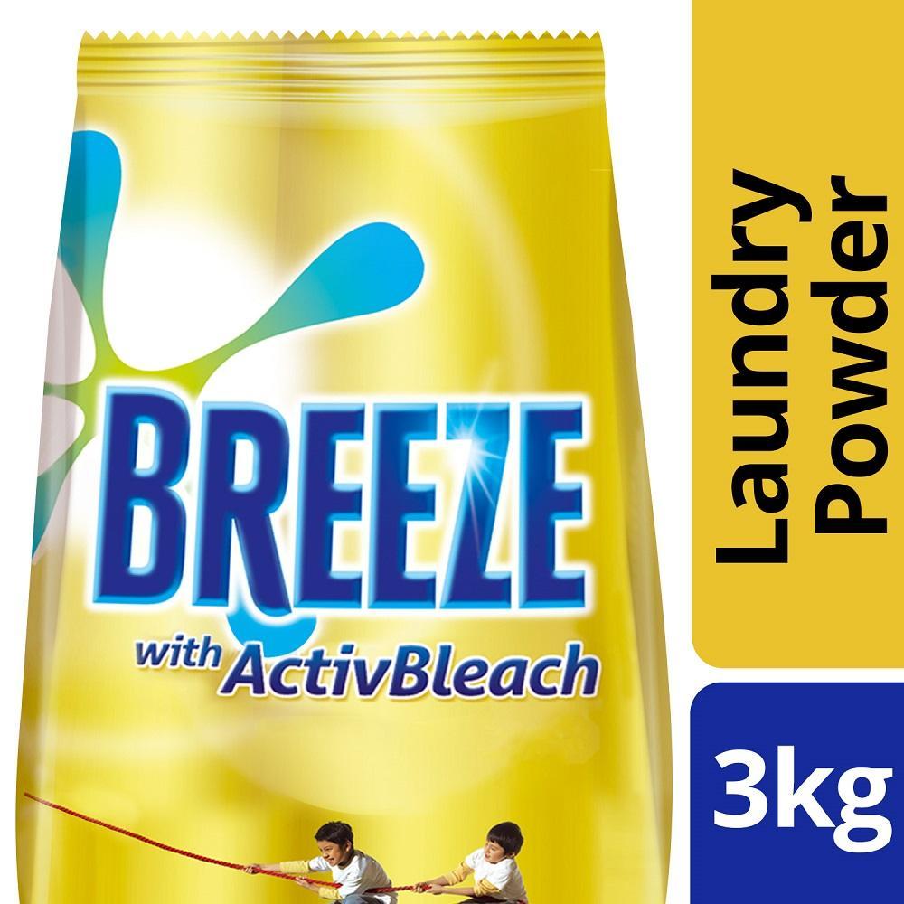 BREEZE POWDER DETERGENT ACTIVBLEACH 3KG