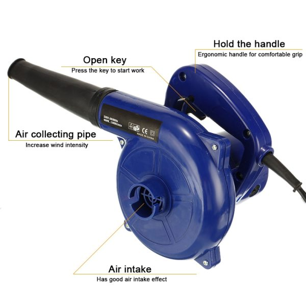 1pc Vacuum Computer Cleaner Electric Industrial Air Blower Dust Blowing Dust Computer Dust Collector Air Blower 600W 220V