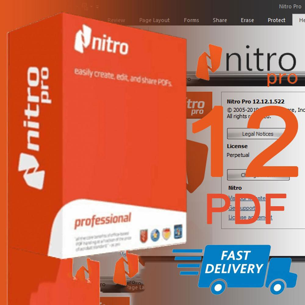 Nitro Pro 12 PDF Editor / Lifetime / Windows 7 8 10