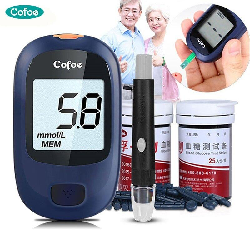 Yice Glucose Meter/Glucometer/Medical Diabetes Monitor With 50Pcs Test Strips & Lancets For Test Blood Sugar Level At Home