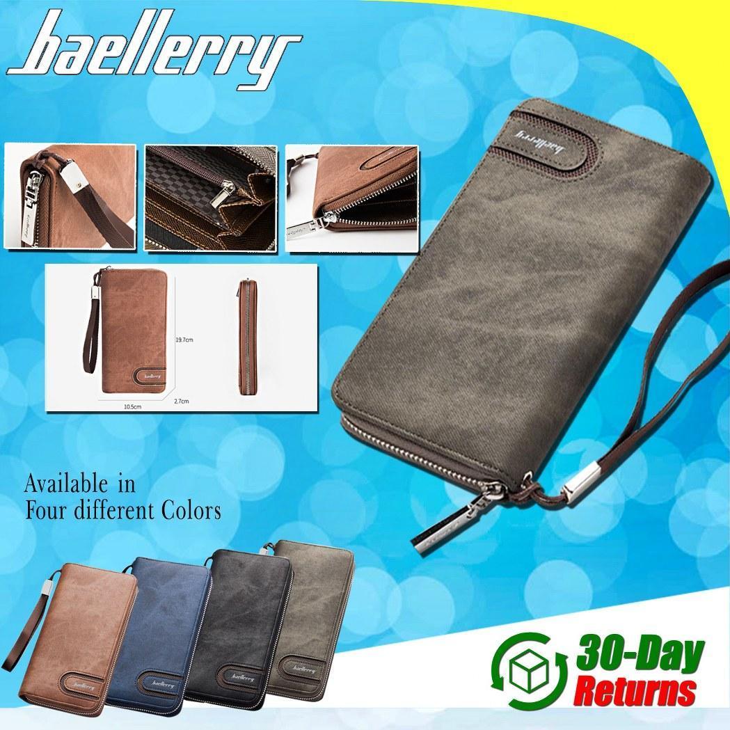 Baellerry Men PU Leather Organizer Long Wallet Money Purse Coin Pocket  Pochette Male Clutch Hand Bag dd0015b050