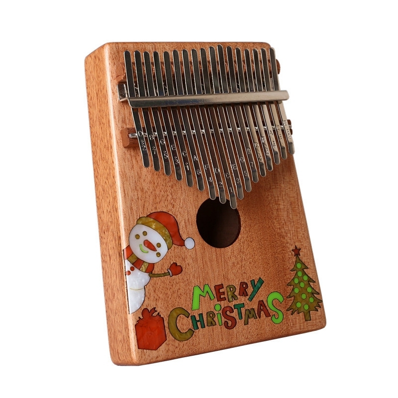 17 Keys Kalimba African Thumb Piano Solid Wood Mahogany Body Musical Instrument Finger Piano Best Christmas Gift