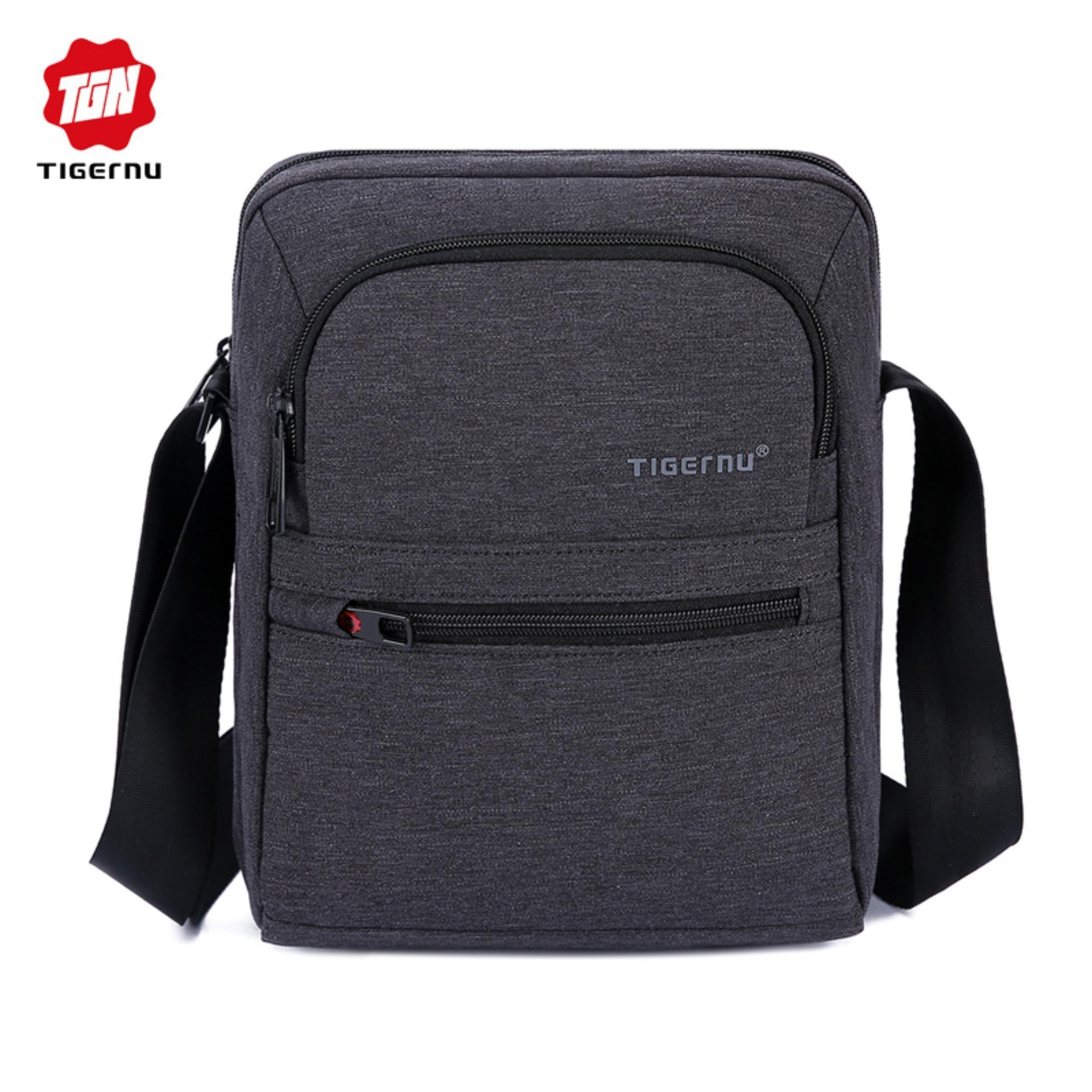 be4309faa Tigernu Men 's Splash proof Messenger BagTravel Shoulder Bag T-L5105(Black  Grey
