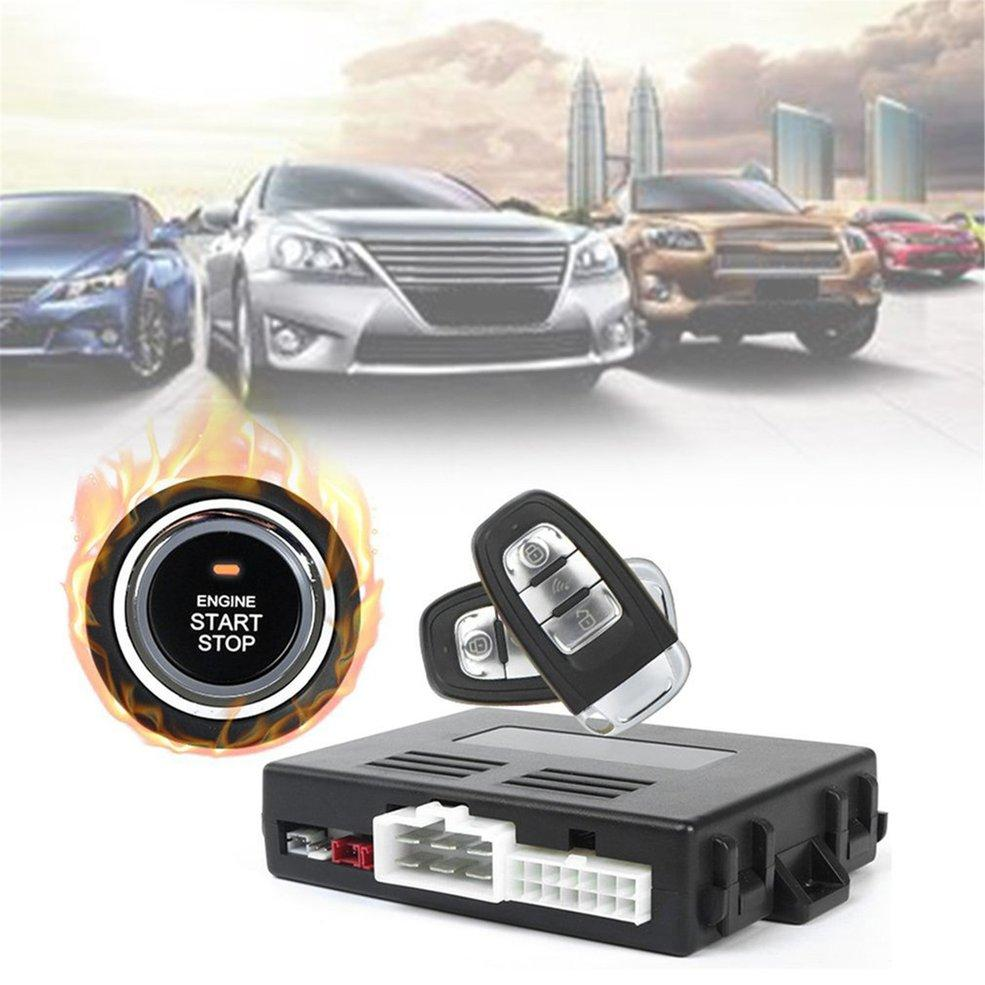 Universal Car Alarm System With Remote Start Car Push Button Start Passive Keyless Entry Auto Central Control Door Lock By Giftforyou.