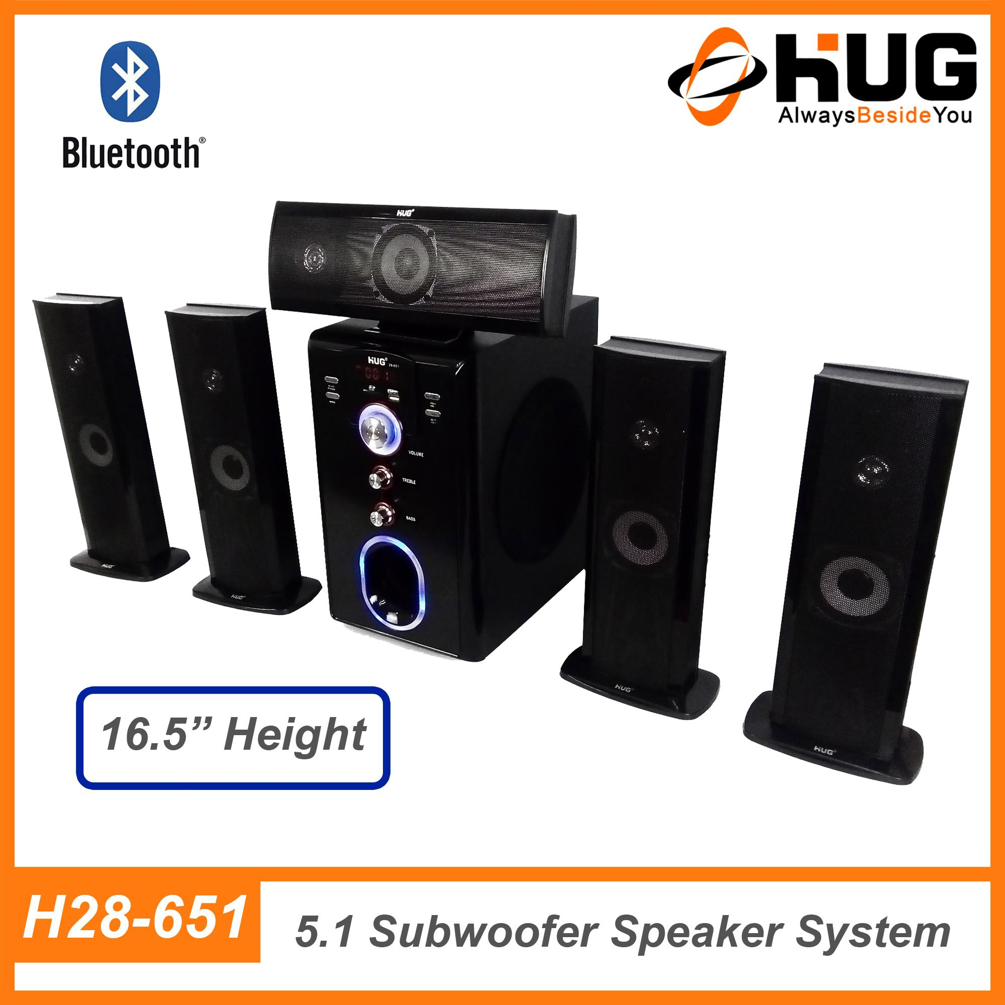Hug H28-651 Bluetooth Home Theater Subwoofer Speaker By Hug Official Store.