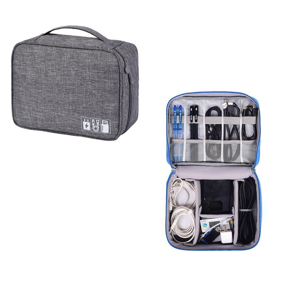 7fbfd4a830 Digital Storage Bag Travel Gadget Organizer Case For Hard Disk USB Data  Cable(