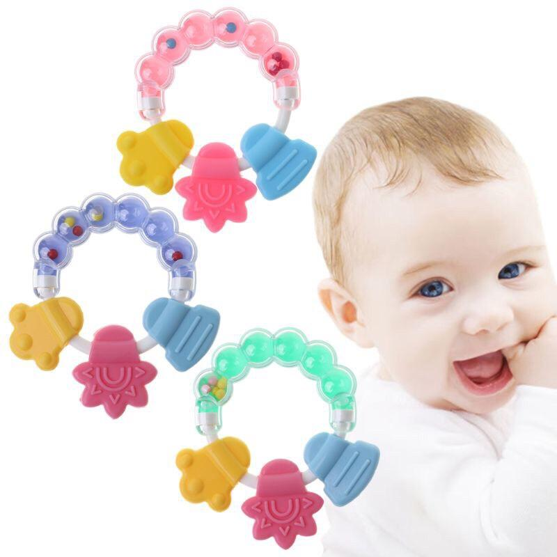 Baby Silicone Teether Safe Teeth Exercises Toys Chew Toy Kids Child Care L