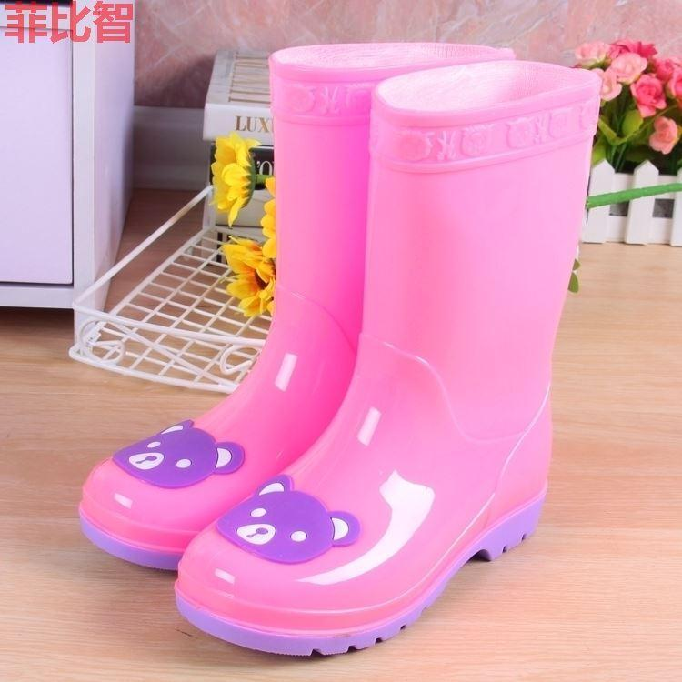 c1f2509115 Students Overshoes 3-9-Year-Old Children s Rain Boots 4 boy men 5
