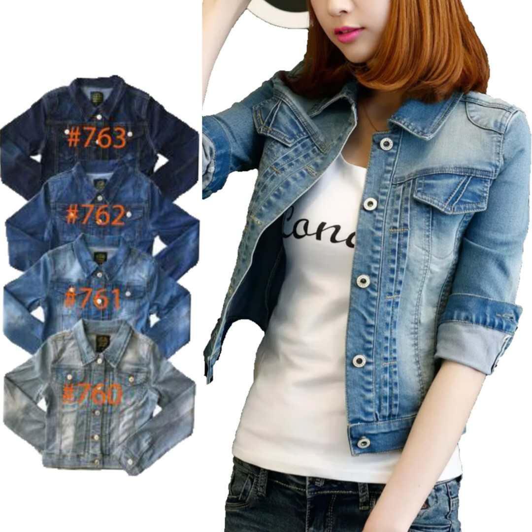 f356c027c6 Korean Fashion Crop Top Jacket denim Short stretchable S-XL