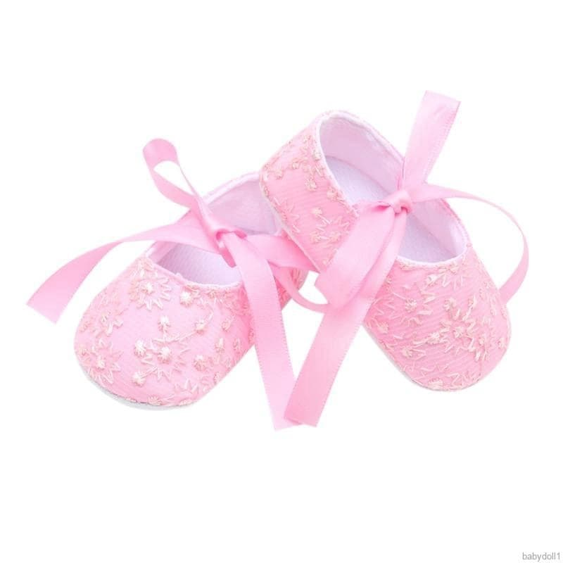 Sabe Infant Baby Girls Soft Sole Sandals Non-Slip Dress Wedding Crib Shoes Christening Gift