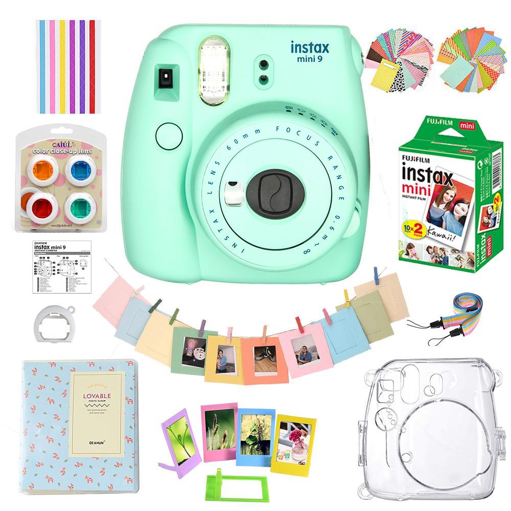 Fujifilm Instax Mini 9 Film Camera Ice Blue + 20 Sheets + Bag Case +  Accessories (Support Installment !)