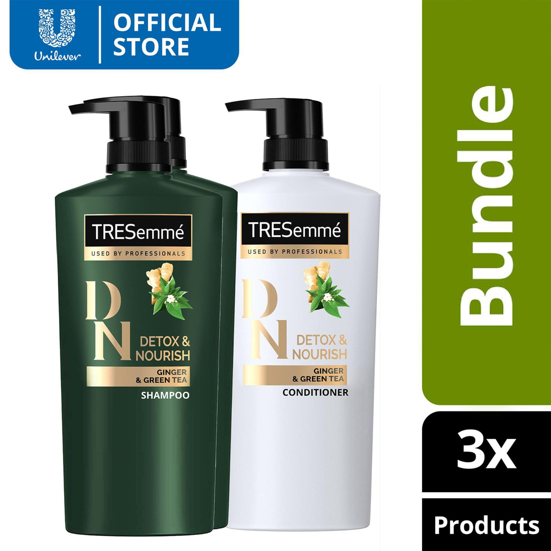 Tresemme Shampoo And Hair Conditioner Detox Nourish 620ml Bundle