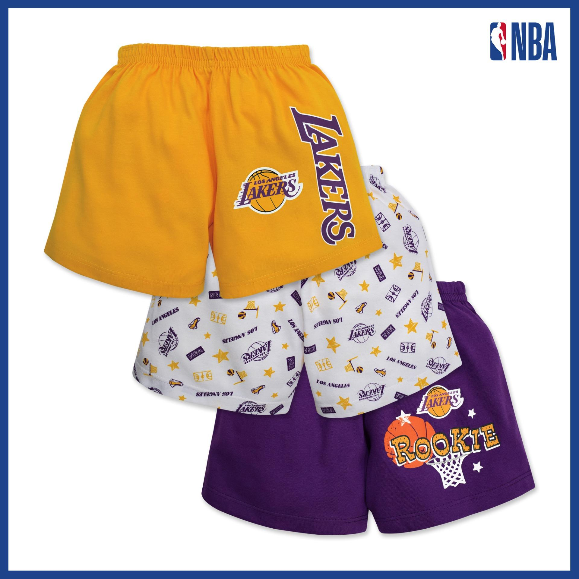 Nba Baby - 3-Piece Shorts (rookie - Lakers) By Cotton Stuff.