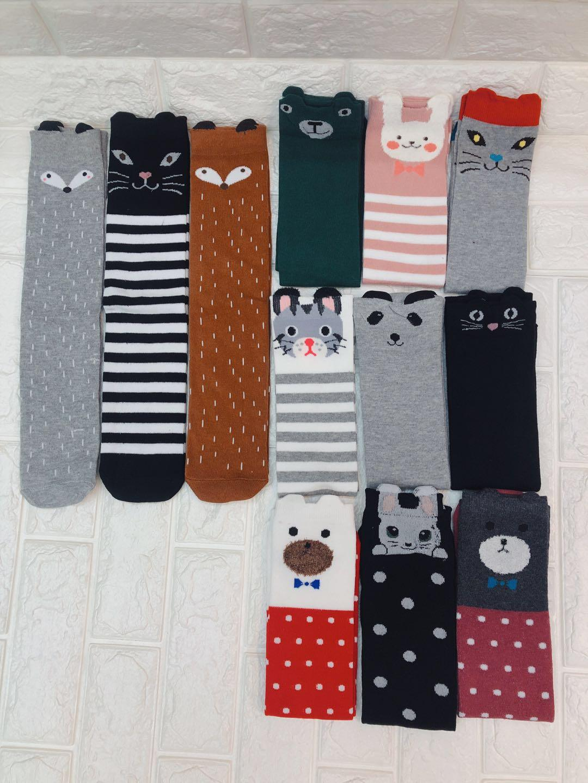 1874822c63295 Hot 9 Styles Baby Girls Cute Knee Socks Children Character Fox Cotton  Dancing Socks Leg Warmer