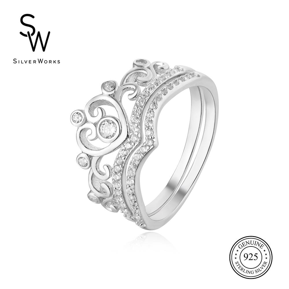 Silverworks Ms. Universe Crown Ring R6204