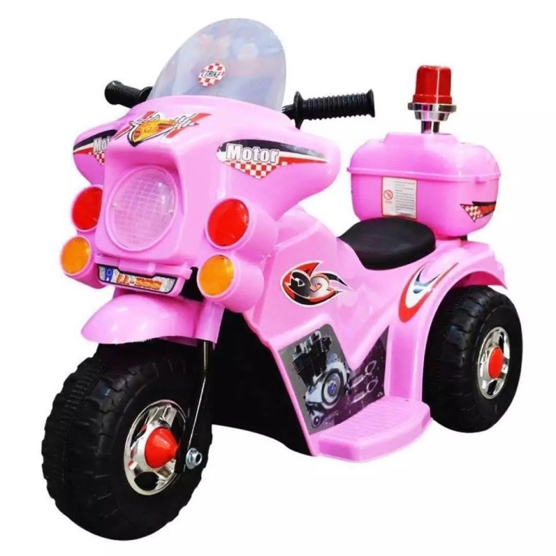Rechargeable Motor Bike Kids Ride-On Toys Police Motorcycle {pink} By Jhongel Marketing.