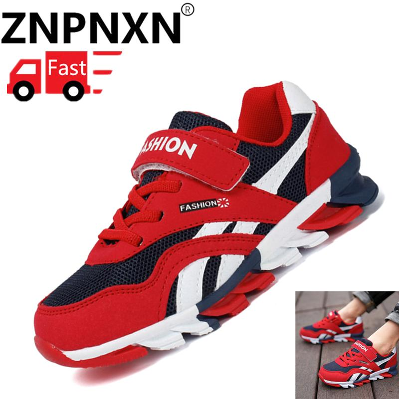 0fa7ba1dcf9fd9 ZNPNXN Size 27-37 Children Sports Shoes Boys Girls Outdoor Sneakers Child Running  Shoes Kids