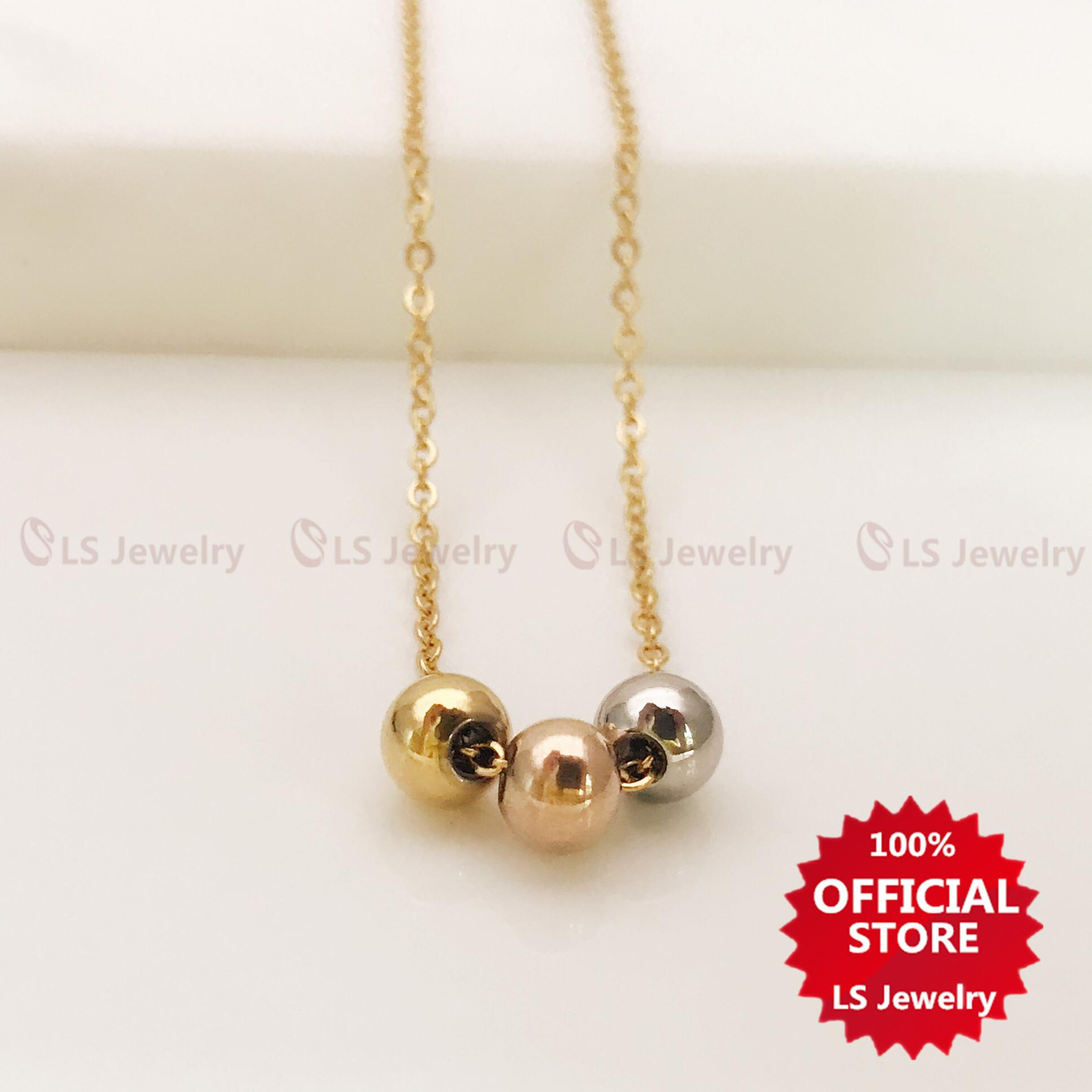 be32cd4e3ed07b LS jewelry Fashionable 14K Stainless gold plated Necklace for women N0040