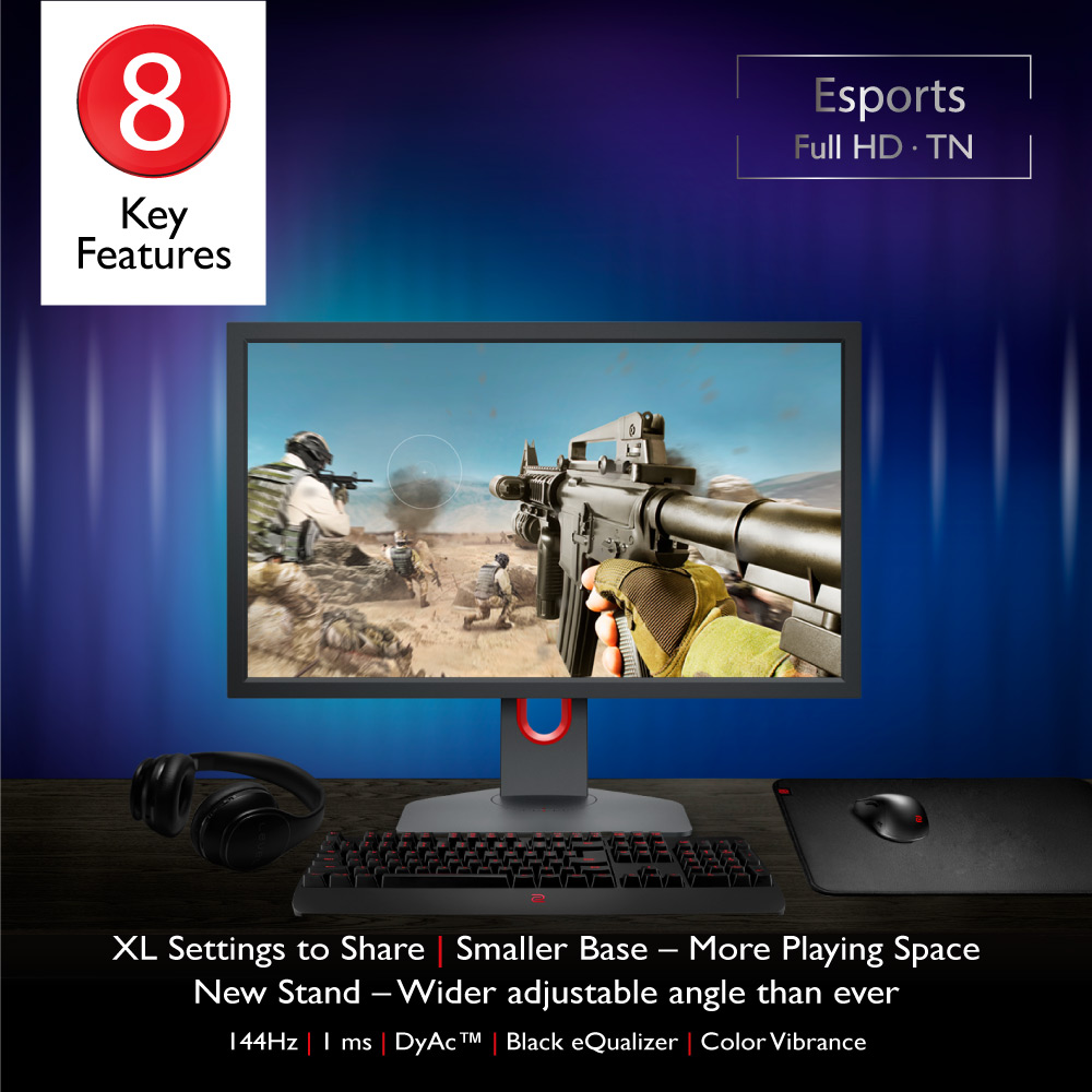 BenQ ZOWIE XL2411K 24 inch 144Hz 1ms with Exclusive DyAc Technology Esports  Gaming Monitor Best for FPS and PUBG | Lazada PH