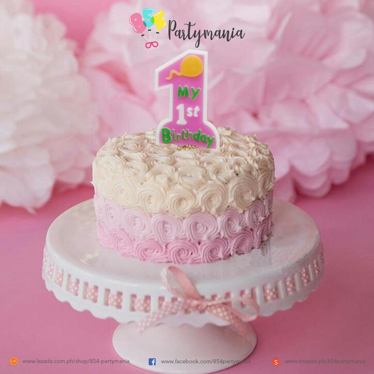 1st Birthday Candle Cake Topper Decoration