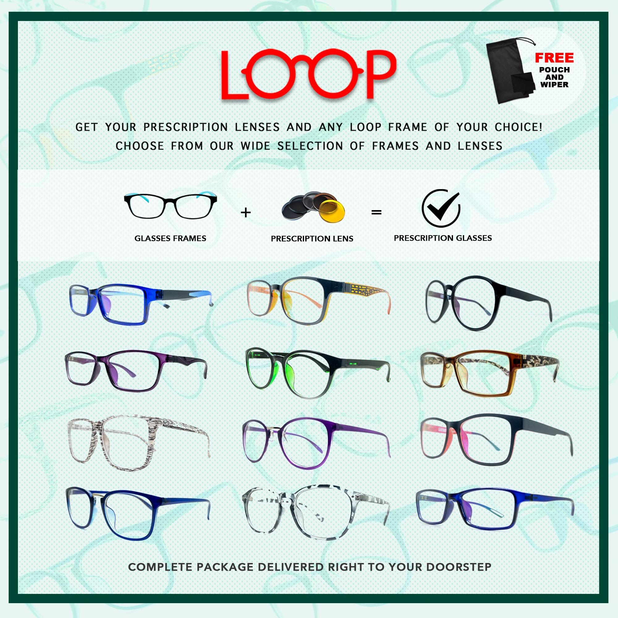*MADE TO ORDER* LOOP GRADED Glasses (Anti-Blue, Muti-Coated, Ordinary,  Transition Blue,Transition Multi Coated,Transition Ordinary) Anti Radiation