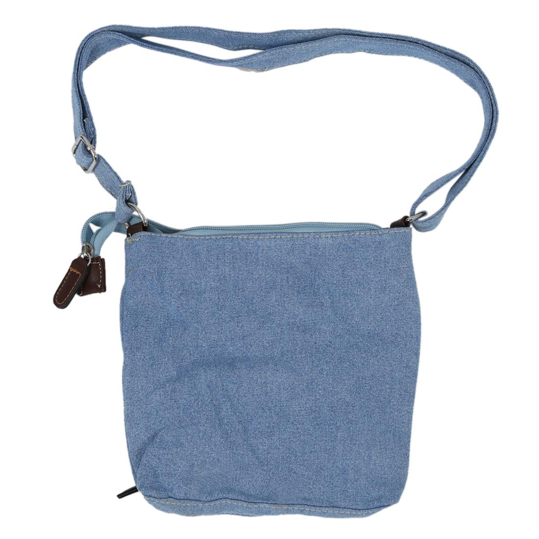 a04e4f6349d3 fashion retro denim crossbody bag women classic canvas pochette casual  zipper soft messenger small shoulder bags Light Blue