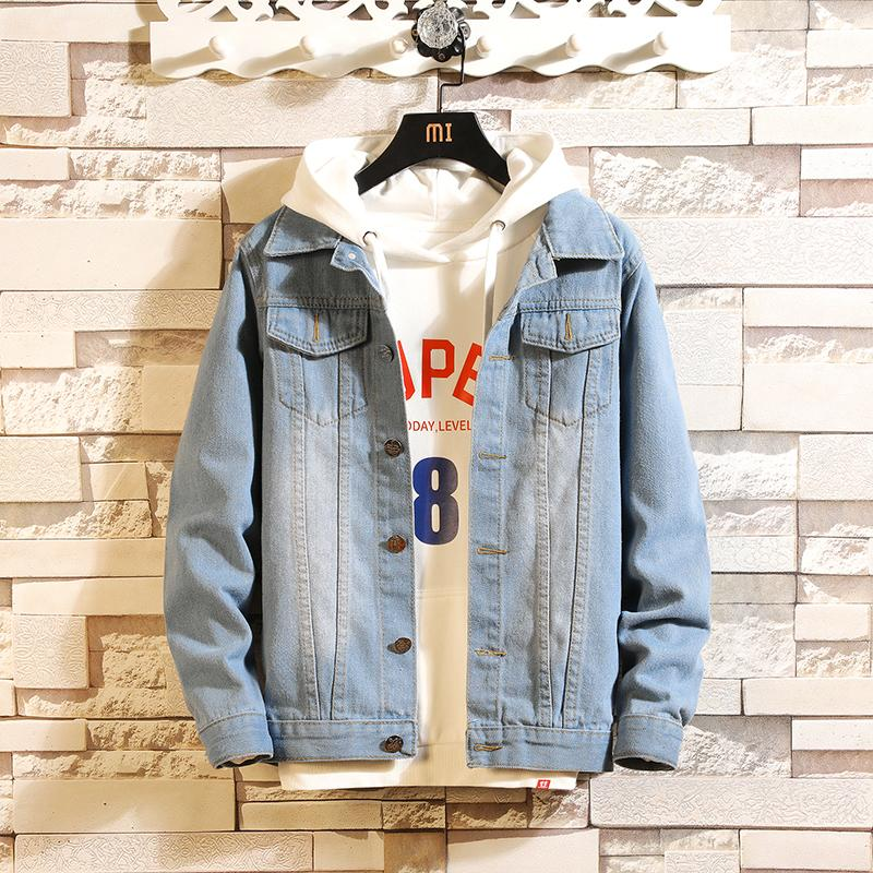 Jeans Coat Man Spring Men Slim Fit Jacket Trend Handsome Students Tops New Style Leisure Teenager Clothes By Taobao Collection.