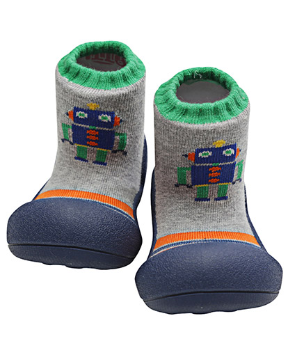 Attipas Baby Shoe Socks with Robot