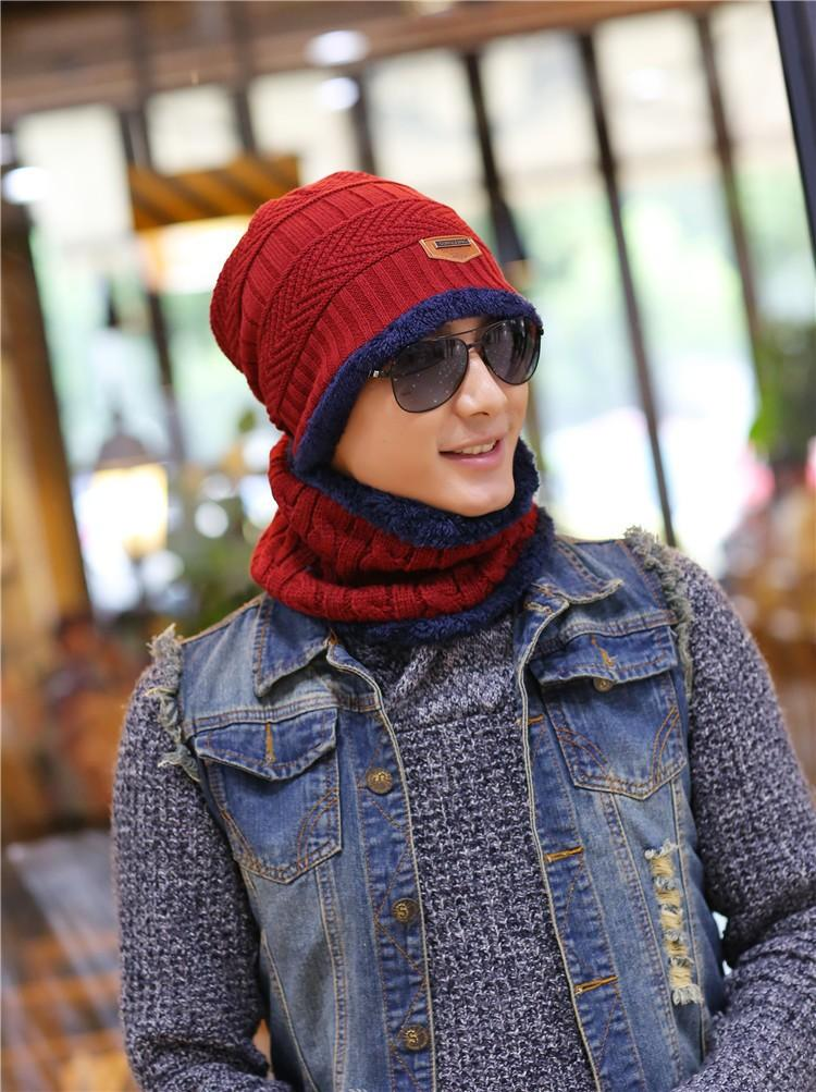 1ef18d56fc6 Unisex Fashion Arrival Beanies Knitted Hat Men s Winter Hats For Women Men  Caps Gorros Warm Moto
