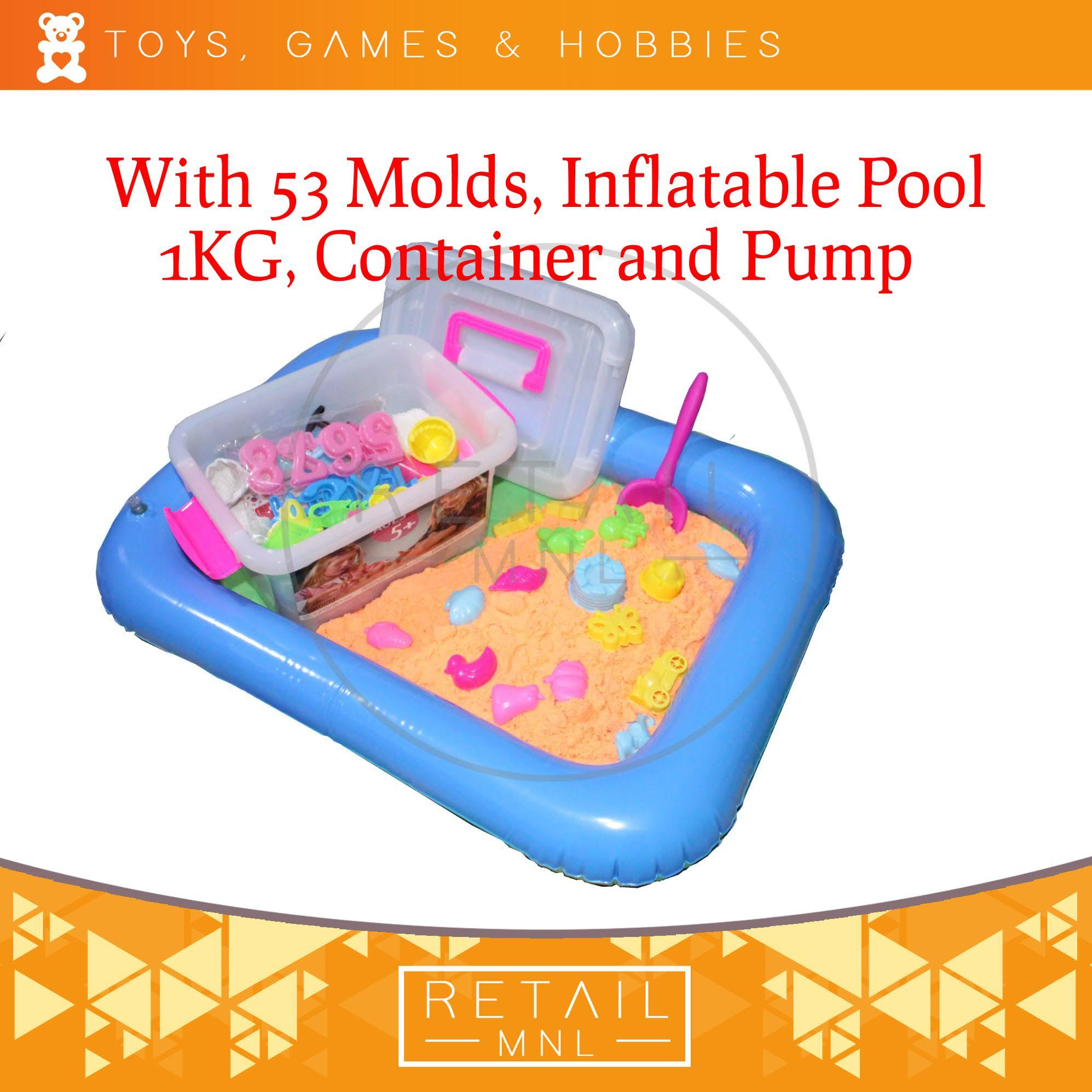 106951ae13 Retailmnl Kinetic Motion Sand Playset with Molds and Inflatable Pool Kids  Toy