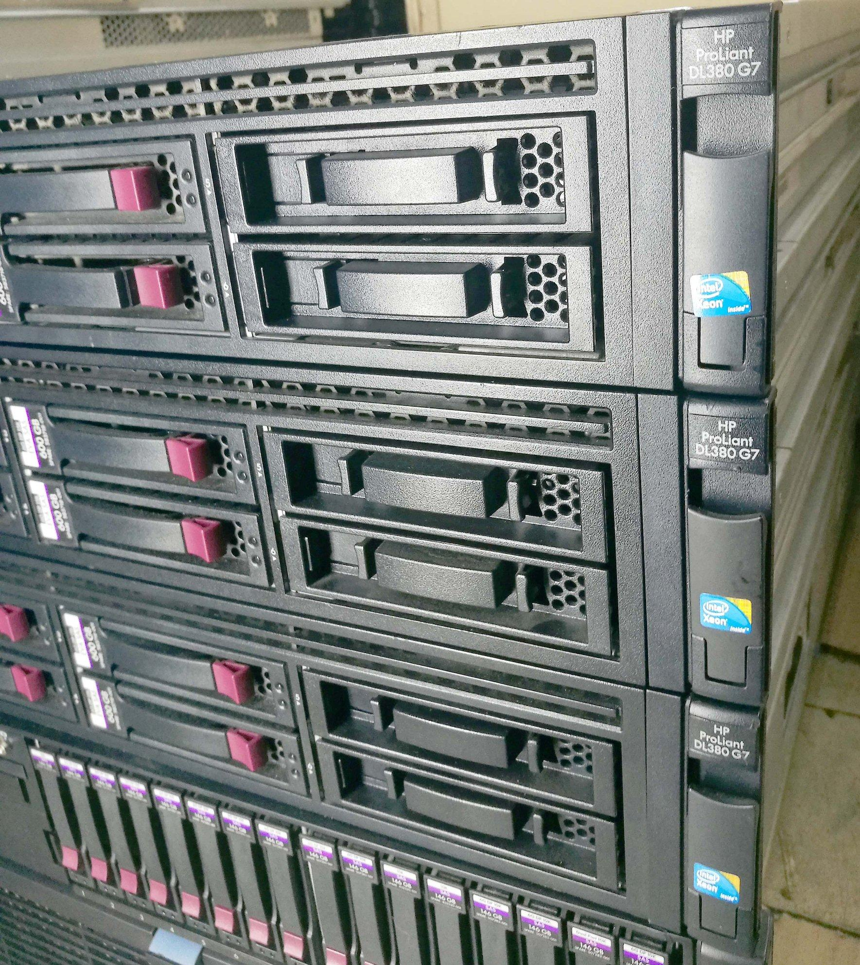 Server HP Proliant DL380 G7 24 core total x5670 2 93ghz, 32gb ddr3 total, 4  x 600gb 3 5in sas drive dual power supply(Refurbished)